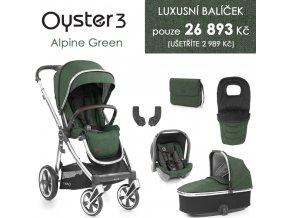 BabyStyle Oyster 3 luxusní set 6 v 1 2021 (Barva Alpine Green)
