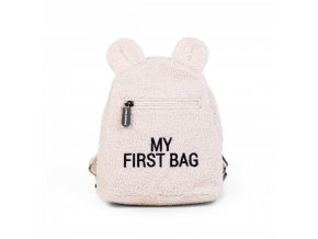 Childhome Dětský batoh My First Bag Teddy Off White
