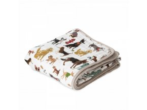 Little Unicorn Mušelínová deka 120x120cm Woof