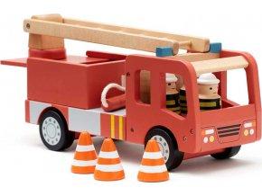 Kids Concept Hasičský náklaďák Aiden dřevěný