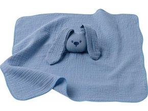 NATTOU Hračka mazlíček bavlněný Lapidou blue 44x44 cm