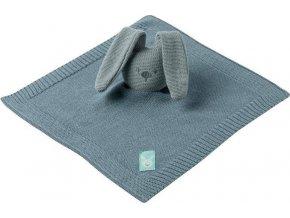 NATTOU Hračka mazlíček pletený bavlněný Lapidou coppergreen 32x32 cm