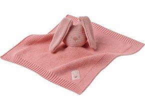 NATTOU Hračka mazlíček pletený bavlněný Lapidou pink 32x32 cm