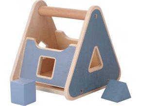 KINDSGUT Dřevěná vkládačka kufřík