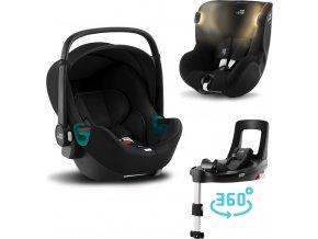 BRITAX Set autosedačka Baby-Safe 3 i-Size+Flex Base iSense+Autosedačka Dualfix iSense 2021