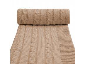 Dětská pletená deka spring, beige / béžová