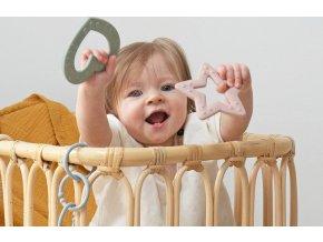 Bibs Baby Bitie kousátko Heart (Barva Mustard)