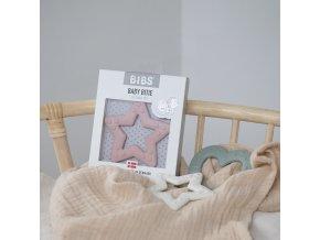 Bibs Baby Bitie kousátko Star (Barva Ivory)