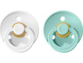 BIBS Colour cumlíky z prírodného kaučuku 2ks - veľkosť 1 White / Mint