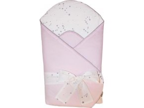 EKO EKO Zavinovačka bavlněná s potiskem a kokosovým vnitřkem Light Pink 75x75cm