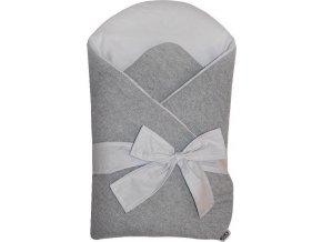 EKO EKO Zavinovačka z pleteniny Grey-Grey 75x75cm