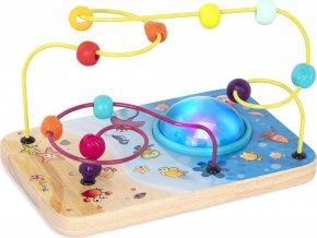 B-Toys Labyrint s korálky a světýlky s hudbou