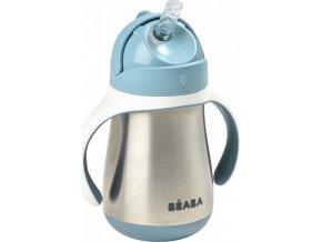 Beaba Hrnek termoizolační s brčkem nerez 250ml Blue