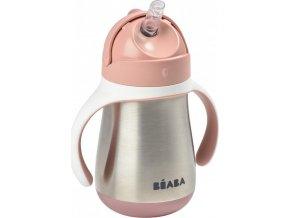 Beaba Hrnek termoizolační s brčkem nerez 250ml Pink