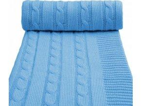 Dětská pletená deka spring, blue/ modrá