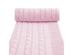 Dětská pletená deka spring, pink / růžová