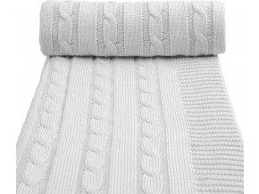 Dětská pletená deka spring, grey / šedá