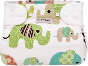 Ortopedické abdukční kalhotky - patentky, green elephants (5-9kg)