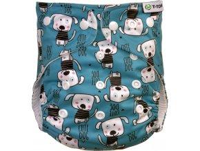 Kalhotková plena AIO - přebalovací set patentky, dogs