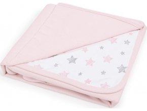CEBA CEBA Deka dětská 90x100 Candy pink + Pink Stars