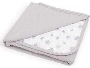 CEBA CEBA Deka dětská 90x100 Light grey + Grey Stars