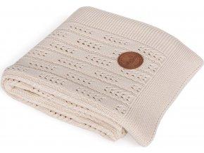 CEBA CEBA Deka pletená v dárkovém balení 90 x 90 béžová rybí kost