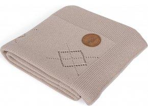 CEBA CEBA Deka pletená v dárkovém balení 90 x 90 hnědé rozety