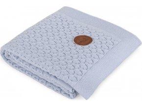 CEBA CEBA Deka pletená v dárkovém balení 90 x 90 modré vlny
