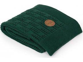 CEBA CEBA Deka pletená v dárkovém balení 90 x 90 Rybí kost Emerald