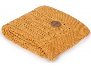 CEBA CEBA Deka pletená v dárkovém balení 90 x 90 Rybí kost Peru