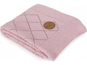 CEBA CEBA Deka pletená v dárkovém balení 90 x 90 rýžový vzor růžová