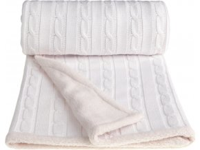 Dětská pletená deka winter, white / bílá