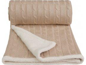 Dětská pletená deka winter, beige / béžová