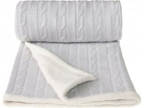 Dětská pletená deka winter, grey / šedá