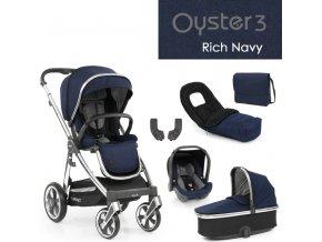 BabyStyle Oyster3 luxusní set 6 v 1 - Rich Navy 2022