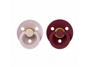 BIBS Colour cumlíky z prírodného kaučuku 2ks - veľkosť 1 Pink Plum / Elderberry