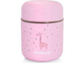 Miniland Termoska Silky na jídlo Pink 280ml