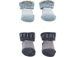 CARTERS CARTER'S Ponožky Blue Dino chlapec LBB 2ks NB, vel. 56