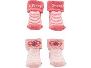 CARTERS CARTER'S Ponožky Butterfly dívka LBB 2ks NB, vel. 56