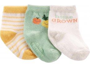 CARTERS CARTER'S Ponožky Fruit neutrál LBB 3ks 0-3m, vel. 62