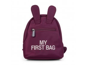 Childhome Dětský batoh My First Bag Aubergine