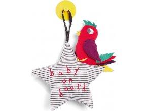Mamas & Papas Hvězdička s ptáčkem do auta Baby on Board