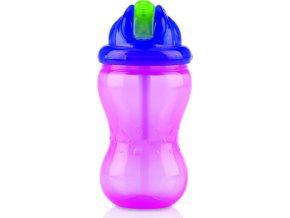 Nuby Netekoucí hrnek se zaklápavacím brčkem Flip-it™ 355ml růžový