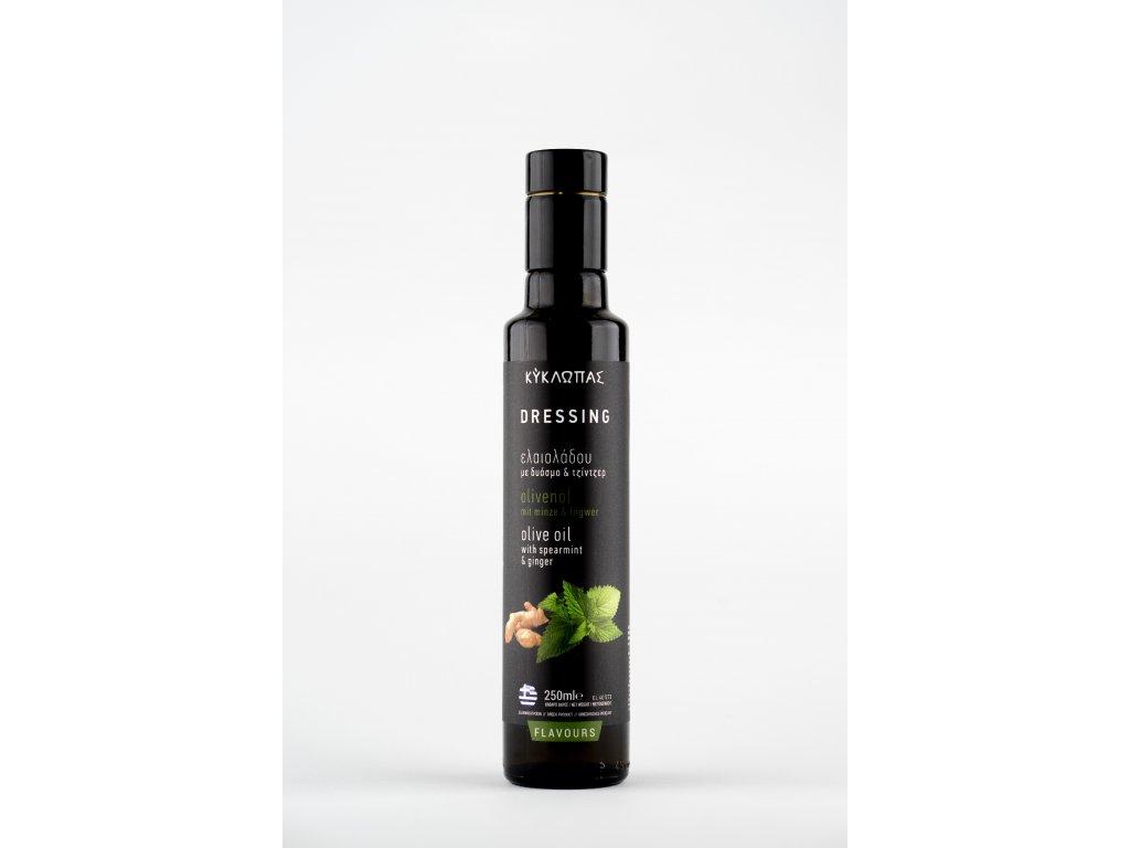 Olivový olej Kyklopas lisovaný se zázvorem a mátou 0,25l