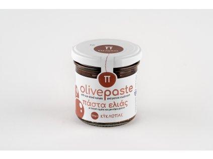 Olivová pasta Kyklopas se sušenými rajčaty a houbami porcini 130g
