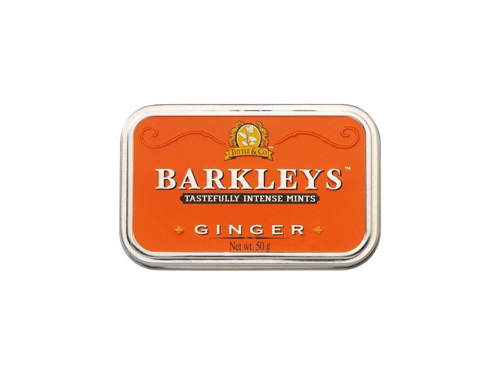 BA02 Zázvorové bonbóny s mátou Barkleys 50g