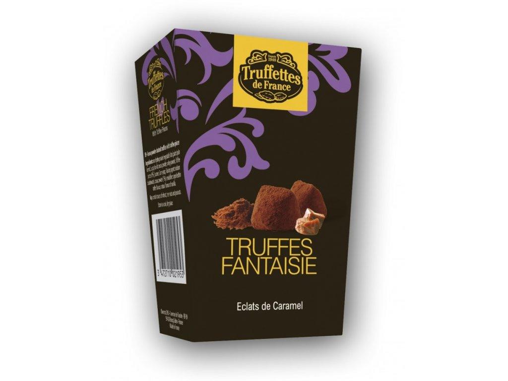 CH14 Francouzské čokoládové lanýže s kousky karamelu Truffettes de France Chocmod 40g