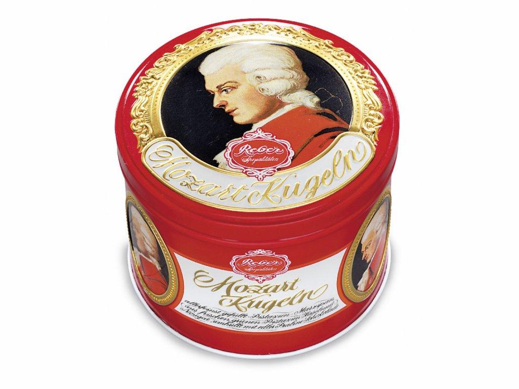 RE01 Mozartovy koule Original Barock Wolfgang v plechové krabičce Reber 300g