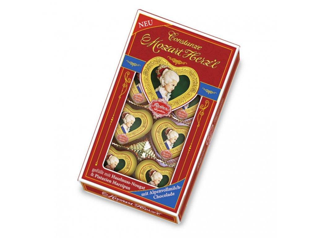RE11 Mozartova čokoládová srdíčka Constanze Original Reber 80g