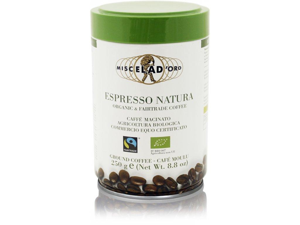Miscela D´Oro mletá káva v plechové dóze Espresso Natura 250g